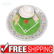 Chip & Dip Plate | Baseball | Ceramic