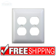 Mulberry | Princess Style | Two Gang Duplex Outlet Switch Plate | White