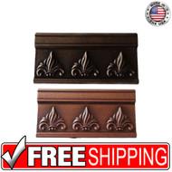 3x6 Deco | Metal Look | 3x6 Fleur Bar Burnished Copper BSAT | Trim 330020003