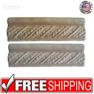 2.5x8 Deco | Metal Look | CAS Bay Leaf Rope Ogee | STND117020201