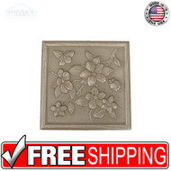 4.25x4.25 Deco | Metal Look Decos | Floral VIC Bronze BSAT | TILE367028003