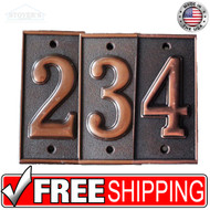 2.5x5.5 | Metal Look Deco | House Numbers | Bronze