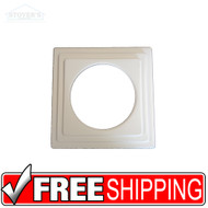 "Lighting Trim | 6"" Designer Trim: Square Stepped Light White 