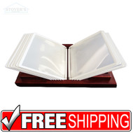 Wooden File Display | 10 Letter Size Pockets | Mahogany | Free Shipping