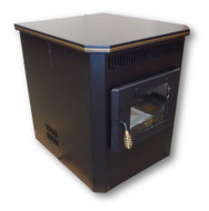 Amaizablaze Corn Stove - Model 2100 - Adjustable BTU 8,000 - 30,000 BTU's - Direct Vent WITH HORIZONTAL CAP