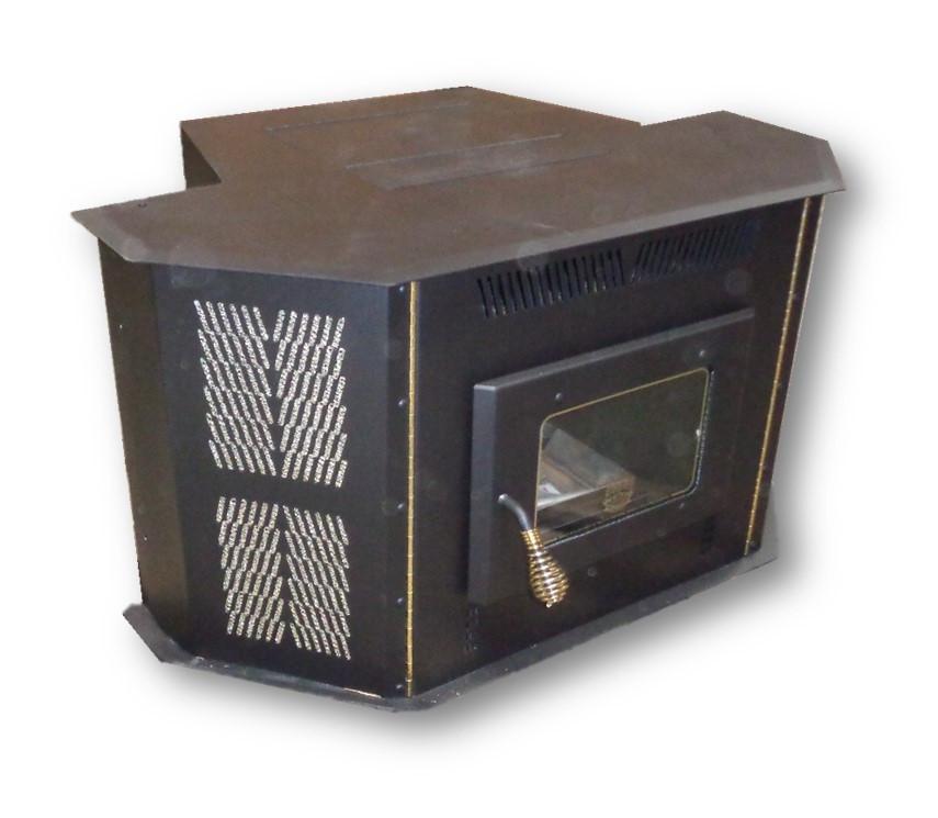 Amaizablaze Corn Stove - Model 4100 - Up to 50,000 BTU's - Direct Vent -  Fireplace Insert or Freestanding WITH HORIZONTAL CAP