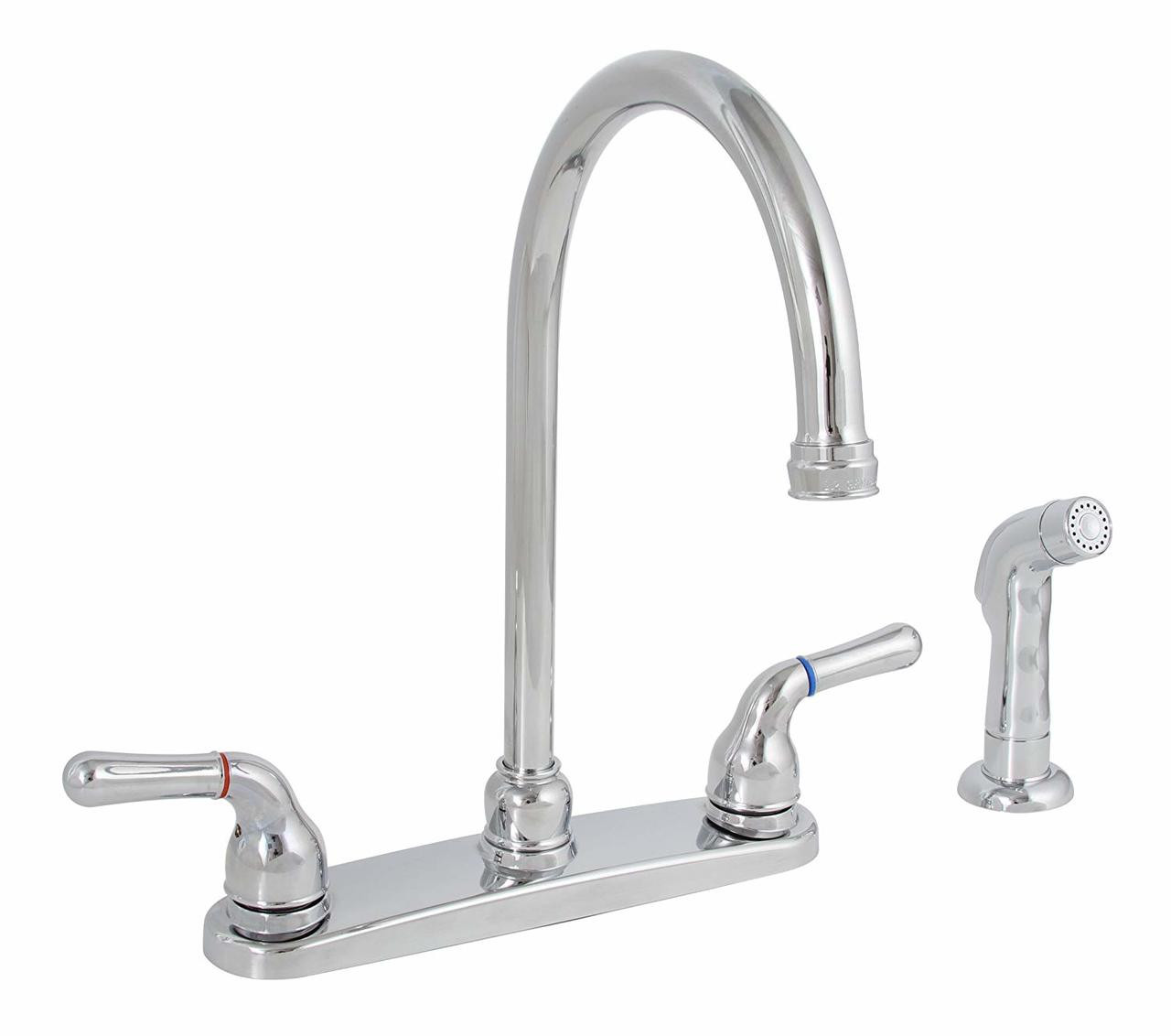 Premier Sanibel Lead-Free Two-Handle Kitchen Faucet with Matching Spray in  Chrome