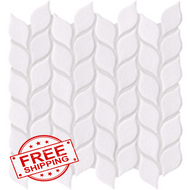 Vanilla Leaf Crackled Mosaics | Glass Mosaic | FOB TN | FREE SHIPPING