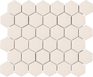 "2"" Metro Biscuit Matte Hexagon Porcelain Mosaics 