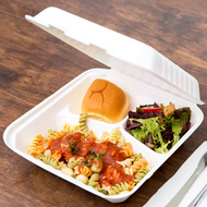 3-COMPARTMENT FOOD CONTAINERS | BROWN PALLETS