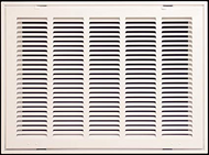 "Stamp Fixed Face Return Air Grill 18""X 6"" 