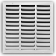 "Stamp Fixed Face Return Air Grill 20""X 14"" 