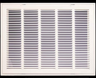 "Stamp Fixed Face Return Air Grill 24""X 10"" 