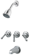 Premier | 076335145648 | 3-Handle Tub & Shower Faucet