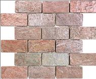 Tumbled Copper Brick Mosaic | Slate Mosaic | 76-107