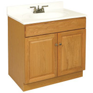CLAREMONT BATHROOM VANITY CABINET 2-DOOR HONEY OAK 103506 | BROWN PALLET
