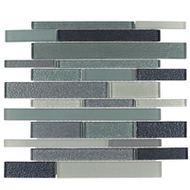 SUMMER BREEZE BRICK | GLASS MOSAIC | DI106LTGR1214