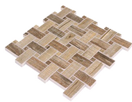 WOODEN BASKETWEAVE | PORCELAIN MOSAIC | 12X12