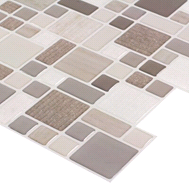 Peel&Stick Mosaics Cafe Cubes Mosaic Composite Wall Tile (Common: 10-in x 10-in; Actual: 9.4-in x 10-in) |FREE SHIPPING