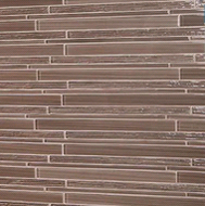 American Olean Delfino Cappuccino Glass Linear | Glass Mosaic | 12 x 15