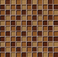 In A Flash Brown Blend | Glass Mosaic | 12 x 12