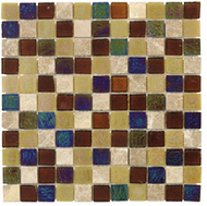JC 99138 SMOKY SUEDE| Glass Mosaic | 12 x 12