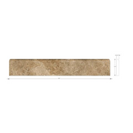 NOCE TRAVERTINE HONED BULLNOSE | 1 x 12 | SCSLN0112