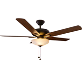 "HAMPTON BAY TRISTE 52"" LARGER ROOM CEILING FAN OIL RUBBED BRONZE 