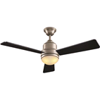 "HAMPTON BAY TRISTE 52"" LARGE ROOM CEILING FAN BRUSHED NICKEL 