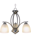 MONUMENT® CONTEMPORARY CHANDELIER, 19 X 16-1/2 IN, BRUSHED NICKEL, USES (3) 13-WATT GU24 BASE FLUORESCENT LAMPS | 617629