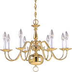 POLISHED BRASS CHANDELIER DESIGNER SERIES | 671556