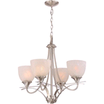 Monument 24.75 x 22.75 in. Brushed Nickel Chandelier | 076335236001