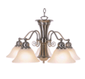 WELLINGTON CHANDELIER LIGHT BRUSHED NICKEL| 076335044972