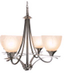 "Monument CHANDELIER 4 -LIGHT 24.75"" BRUSHED NICKEL 
