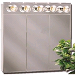 American Pride Tm Series 30 in. Beveled Mirror Lighted Tri-View Medicine Cabinet | 043197000613
