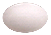 ROUND FLUORESCENT CEILING FIXTURE, WHITE, 18-3/4 X 5-1/4 IN | 076335088662