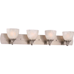 Monument 43 in. 4-Light Brushed Nickel Vanity Light | 076335236018