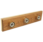 Monument VANITY LIGHTING STRIP, OAK WITH POLISHED BRASS TRIM | 076335676029