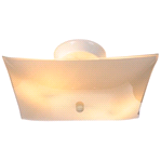 CEILING LIGHT FIXTURE SQUARE WHITE | 671370