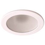 Monument 4 in. Recessed Vapor Trim, Low Voltage, Frosted Glass with White Ring | 743243011241