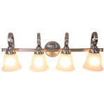 "4-LIGHT VANITY FIXTURE,BRUSHED NICKEL, 32-1/2""W 