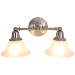 "2-LIGHT VANITY FIXTURE,BRUSHED NICKEL,18""W 