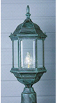 CATALINA OUTDOOR POST LANTERN VERDI GREEN | 022011406220