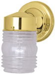 OUTDOOR WALL FIXTURE JELLY JAR GLASS, POLISHED BRASS | 671190