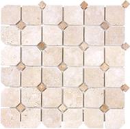 TUMBLED IVORY TRAVERTINE | Stone Mosaic | FOB TN | FREE SHIPPING