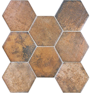 Caloca Terra | Hexagon Tile | FOB TN | FREE SHIPPING