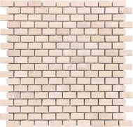 Tumbled Berkshire Crema | Mini Brick Mosaic | FOB TN | FREE SHIPPING