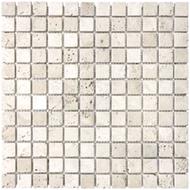 Tumbled Ivory Travertine | Mosaic | FOB TN | FREE SHIPPING