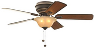 "Hampton Bay Hawkins 44"" ceiling Fan Nickel 