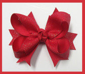 Medium Glitter Tag Bow
